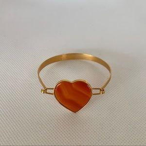 Gemstone heart bracelet